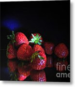 Still Life With Strawberries Metal Print