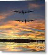 Sunset Lancasters Metal Print