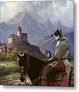 Swedish Elkhound - Jamthund Art Canvas Print Metal Print