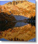 Switchback Peak On Cooney Lake Metal Print
