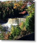 Tahquamenon Falls In Autumn Metal Print