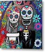 Te Amo Wedding Dia De Los Muertos Metal Print