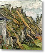 Thatched Cottages In Chaponval Metal Print