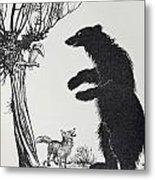 The Bear And The Fox Metal Print