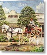 The Butchers Cart Metal Print by Trudi Simmonds