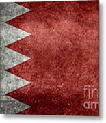 The Flag Of The Kingdom Of Bahrain Vintage Version Metal Print