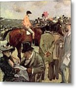 The Horse Race Metal Print by Jean Louis Forain
