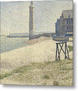 The Lighthouse At Honfleur Metal Print by Georges Pierre Seurat