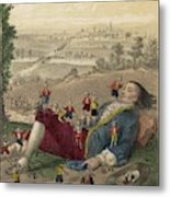 The Lilliputians Clamber All Metal Print