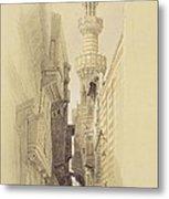 The Minaret Of The Mosque Of El Rhamree Metal Print by David Roberts