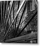 The Old Mill-black And White Metal Print