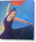 The Red Fan Metal Print by Gwen Carroll