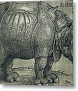 The Rhinoceros Metal Print by Albrecht Durer