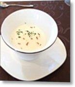白インゲンのスープ Metal Print