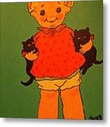 Vintage Kewpie Doll Metal Print