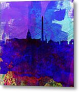 Washington Dc Watercolor Skyline 2 Metal Print