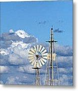 Water Windmills Metal Print by Stelios Kleanthous