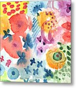 Watercolor Garden Metal Print