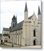 West Facade Of The Church - Fontevraud Abbey Metal Print