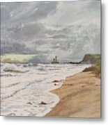 Whitby, Yorkshire A Deserted Beach Metal Print