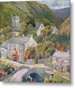 Yorkshire Scenery Muker In Swaledale Metal Print