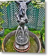 001 Fountain Buffalo Botanical Gardens Series Metal Print