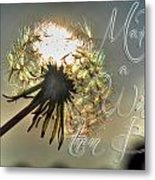 001 Make A Wish At Sunset With Text Metal Print