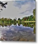 001 Reflecting At Forest Lawn Metal Print