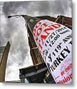 0010 Do Not Stand Metal Print