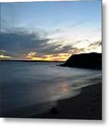 0012 Awe In One Sunset Series At Erie Basin Marina Metal Print