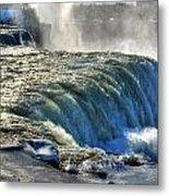 0013 Niagara Falls Winter Wonderland Series Metal Print