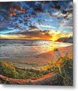 0014 Awe In One Sunset Series At Erie Basin Marina Metal Print