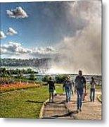 0014 Niagara Falls Misty Blue Series Metal Print