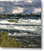 0015 Niagara Falls Misty Blue Series Metal Print