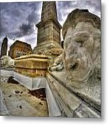 0016 Lions At The Square Metal Print