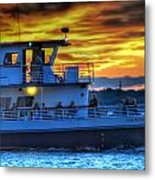 0017 Awe In One Sunset Series At Erie Basin Marina Metal Print