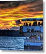 0019 Awe In One Sunset Series At Erie Basin Marina Metal Print