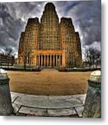 0019 City Hall From Within The Square Metal Print