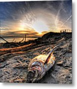 002 After The Ice Melts Erie Basin Marina Series Metal Print