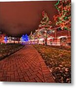 002 Christmas Light Show At Roswell Series Metal Print