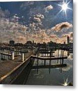 002 Erie Basin Marina D Dock Metal Print