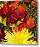 002 Flowers Waiting Metal Print