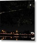 002 Japanese Garden Autumn Nights Metal Print