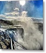002 Niagara Falls Winter Wonderland Series Metal Print