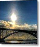 002 Peace Bridge In Passing  Metal Print
