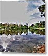 002 Reflecting At Forest Lawn Metal Print