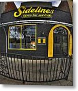 002 Sidelines Sports Bar And Grill Metal Print