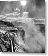 002a Niagara Falls Winter Wonderland Series Metal Print
