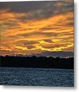 003 Awe In One Sunset Series At Erie Basin Marina Metal Print
