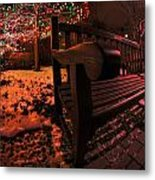 003 Christmas Light Show At Roswell Series Metal Print